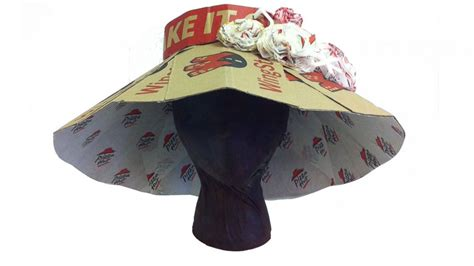 How To Make A Bowler Hat Out Of Paper - pizza hut makes amazing kentucky derby hats out of pizza