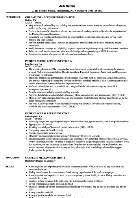 sle cover letter for patient service representative patient access rep resume nyustraus org exaple resume
