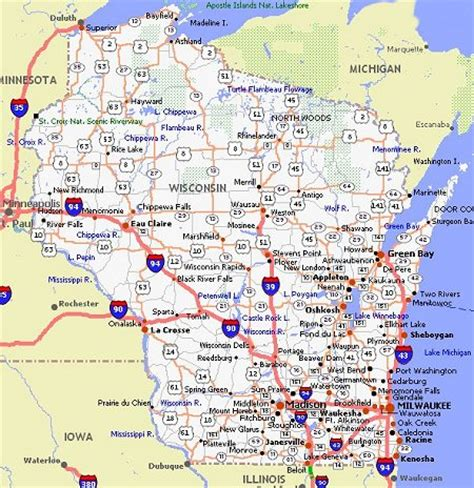 printable wisconsin road map wisconsin movie poster dealers travel map