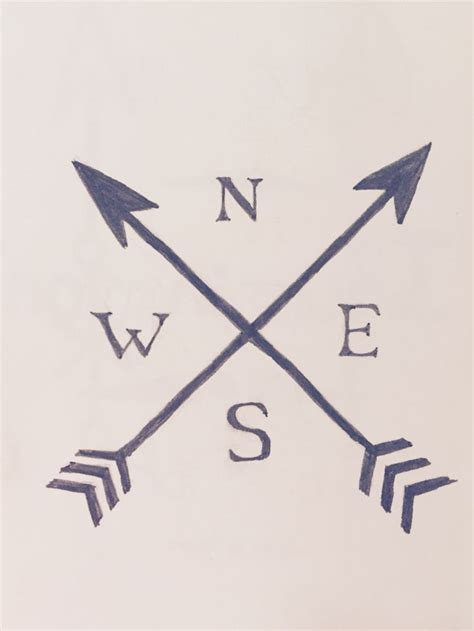 tattoo meaning crossed arrows tattoo idea crossed arrows arrow tatto nesw directions