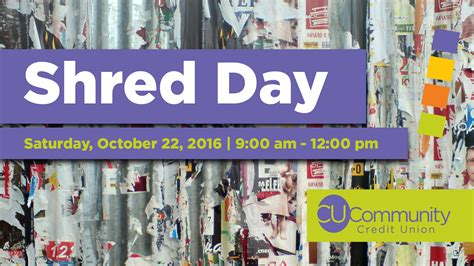 Forum Credit Union Shred Day 2016 Identity Theft Shred Personal Documents Taxes Cu Community Credit Union
