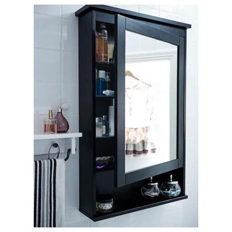 spiegelschrank hemnes hemnes spiegelschrank mit 1 t 252 r fleck schwarz braun 203