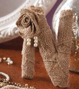 burlap covered letters discover and save creative ideas