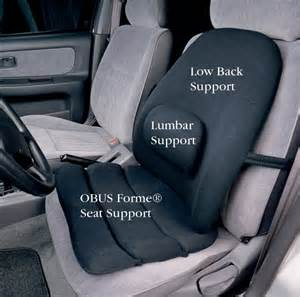 Comfortable Car Seat Cushions Obus Forme 174 Seat And Back Supports North Coast Medical
