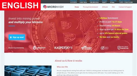 Free Bitcoin Mining Cloud 10 by Microhash Bitcoin Cloud Mining Free 10 Kh S Paying Or Scam
