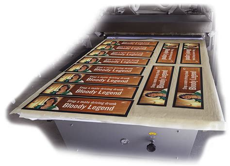 sublimated printed mats