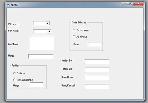 membuat menu dropdown di visual basic membuat combobox dan listbox di pemrograman visual basic