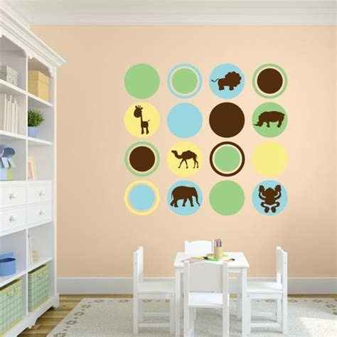 nursery wall decals animals nursery animal polka dot wall decal set wall decal world