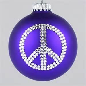 Swarovski Christmas Ornament - peace sign ornament christmas tree ornaments depicting a peace sign