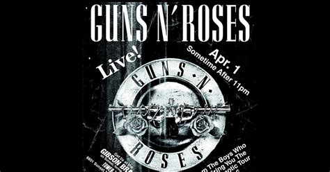 Apri N Black confirmed guns n roses quot secret show quot tonight on the sunset for 10 metal injection