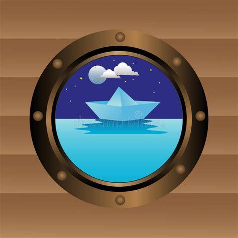 dessin bateau avec hublot hublot de bateau illustration de vecteur illustration du
