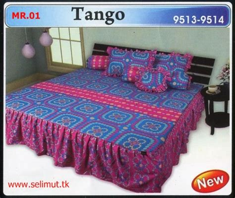 Bedcover Set Carmina Rumbai 180 X 200 X 20 King Size No1 Isyawara rumbai toko selimut sprei bedcover murah