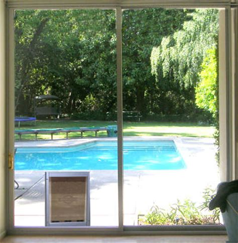 pet doors in screen doors and glass patio doors