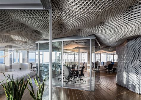 best architecture offices billowing sky ceiling shows off versatile structural