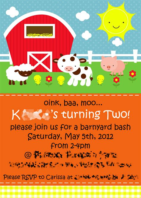 Farm Birthday Party Invitations Theruntime Com Free Farm Birthday Invitation Templates