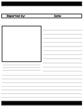 Extra Extra Read All About It News Report Templates By The Teaching Reef News Report Template