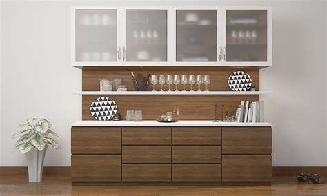 crockery cabinet designs modern l shaped crockery unit google search crockery unit