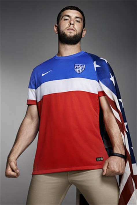 Coach Koston Gold photos of usmnt world cup away jersey modeled by spike