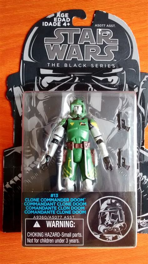 Wars Clone Commander Doom Black Series figura accion wars clone commander doom black series