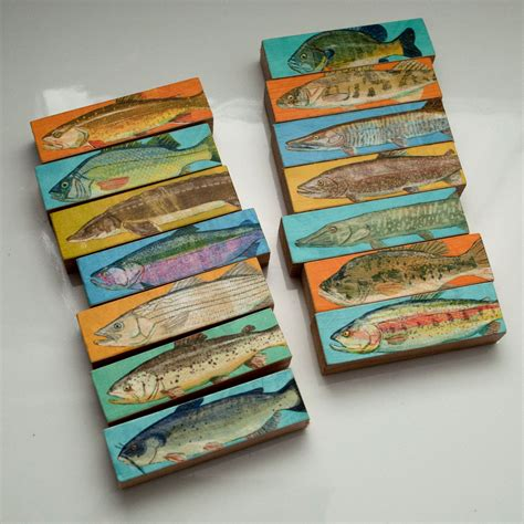 gift for fisherman whole mess of fish sticks freshwater fish block set