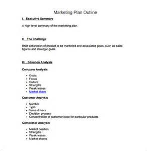 business plan outline template free marketing plan outline template 6 free word excel pdf