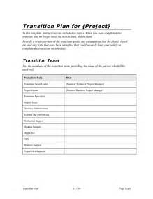 transition plan template project transition plan template in word and pdf formats