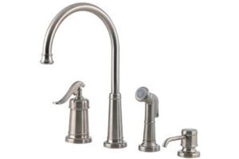 price pfister ashfield kitchen faucet price pfister ashfield 26 4ypk satin nickel single handle kitchen faucet with side spray soap