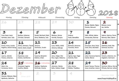 Kalender Dezember 2018 Monatskalender Dezember 2018 Pdf Drucken Kostenlos