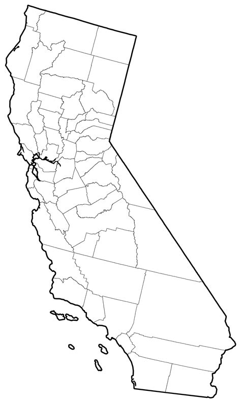 california counties map california map outline
