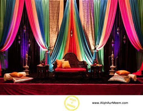 mehndi stage decoration all home ideas and decor home multicolor backdrop for sangeet party stage decor