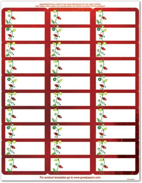String Of Lights Foil Address Labels Stationery Address Labels 30726 Stationery Labels Templates