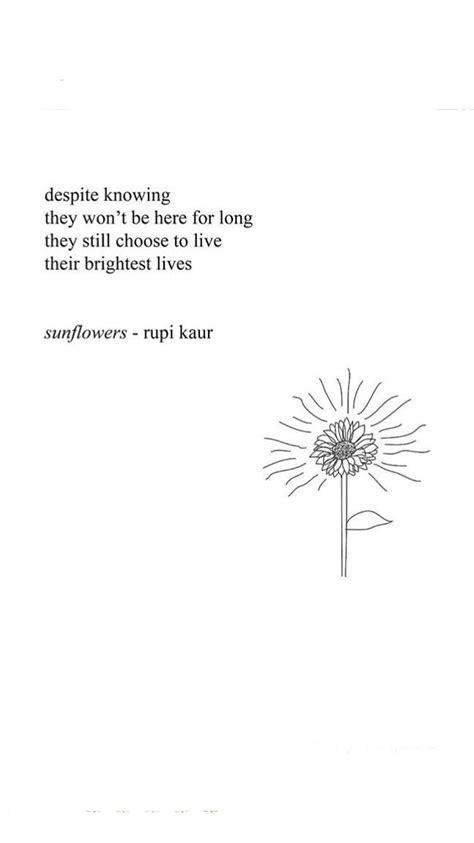 Sunflowers rupi kaur | Poemas, Palabras