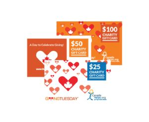 Charity Gift Cards Canada - redeem a charity gift card canadahelps donate to any charity in canada