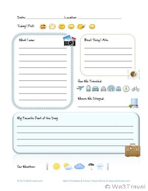 free kid travel journal printable travel journal for kids