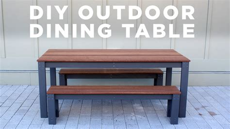 diy modern outdoor table  benches youtube