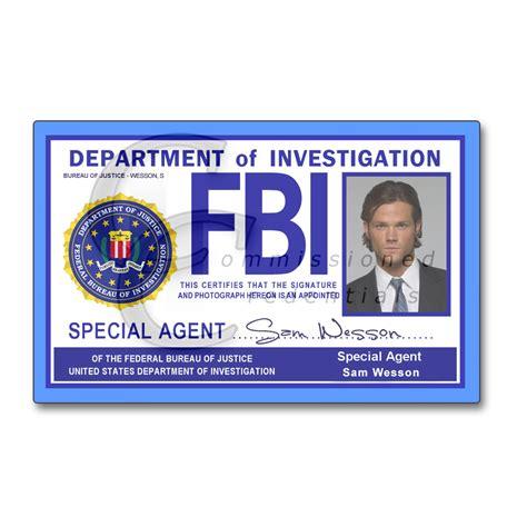 fbi id template fbi spn commissioned credentials