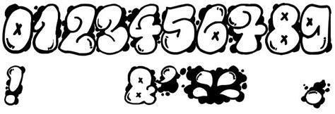 graffiti bubble numbers schriftarten fuer tattoos