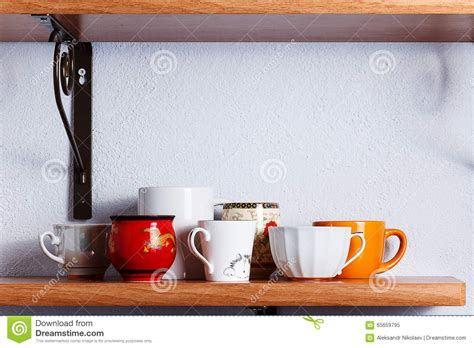 How Many Different On The Shelf Are There by Many Different Cups Stock Image Image Of Shelf Utensils