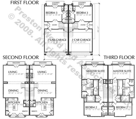 duplex row house floor plans row house plans san francisco row house floor plans narrow row house w large master
