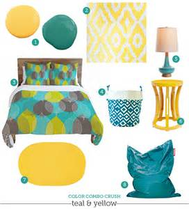 teal and yellow home decor color combo crush teal amp yellow dezignable inspiration