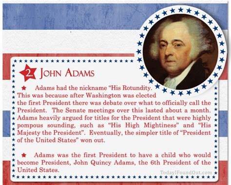 biography facts about john adams over 100 fascinating facts about u s presidents past and