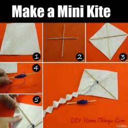 Make A Home How To Make A Mini Kite Diy Home Things