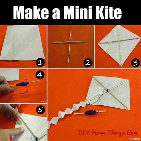 make a home how to make a mini kite diy home things