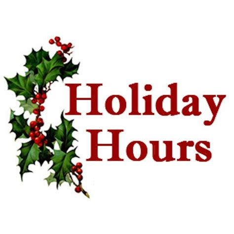 holiday hours city of morden