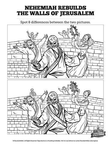 coloring page for nehemiah rebuilding the wall nehemiah bible study coloring pages nehemiah best free