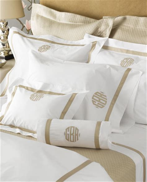 monogram bedding luxury duvet cover and sheets sateen tape