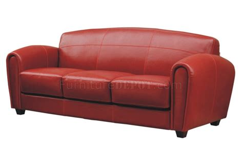 Red full leather sofa amp 2 chairs set aws new orleans