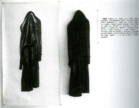 Speaking Of Coats by One And Three Coats Joseph Kosuth 1965 Deadpan