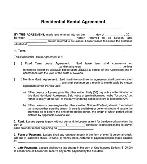 basic agreement form sle monthly rental agreement resume template sle