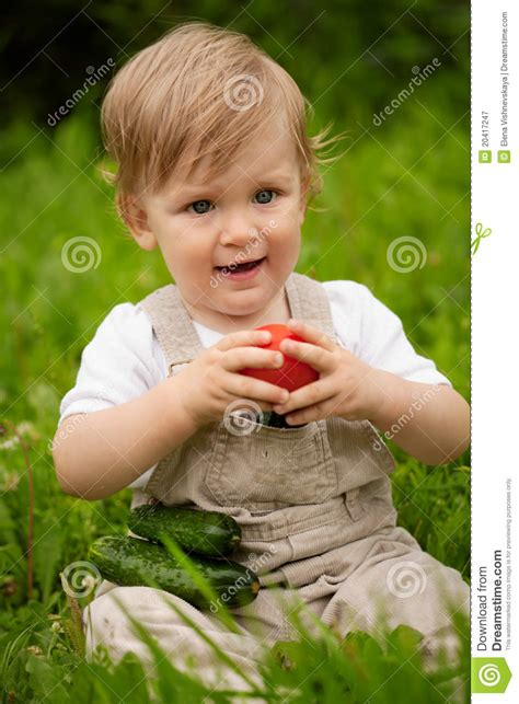 vegetables boys boy and vegetables royalty free stock photography image